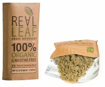 REALLEAF Herbal Smoking Mix 100% Nicotine&Tobacco Free Substitute Real Leaf  30g