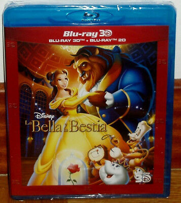 Beauty And The Beast Blu-Ray 3D+Blu-Ray Disney New Sealed (Unopened) R2