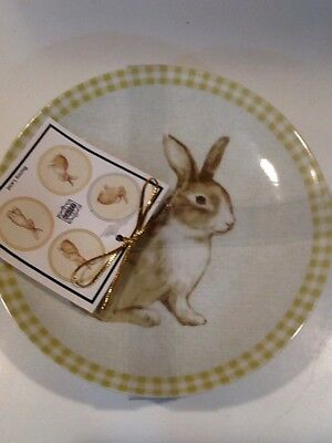 222fifth Bunny Land Easter 4 New Appetizer/dessert Plates