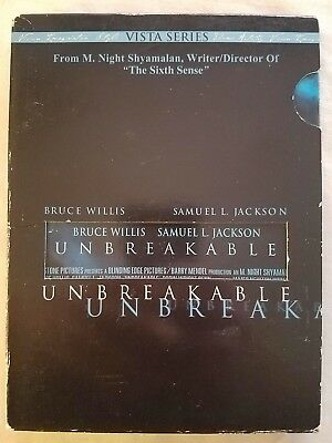 Unbreakable DVD Bruce Willis, Samuel L. Jackson - Combine Shipping & SAVE!!!