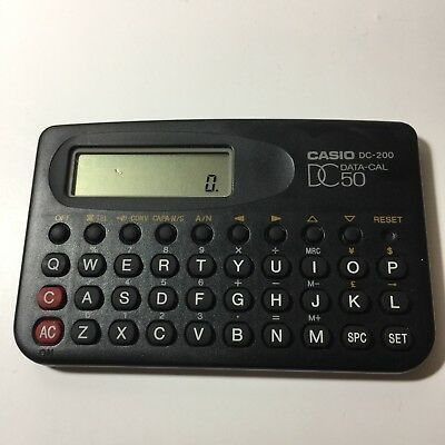 Vintage Casio Dc-200 Data-Cal50 Calculator Small! Made In Japan