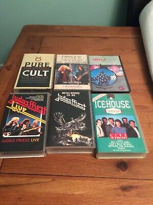 Selection of Music Videos used in great condition in VHS.