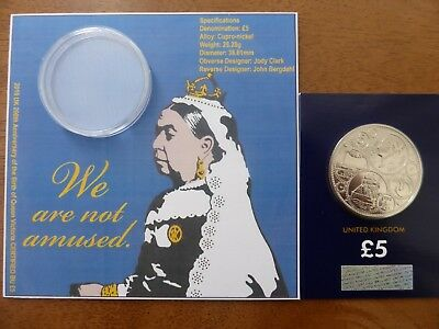 2019 UK 200th Anniversary of the Birth of Queen Victoria CERTIFIED BU £5