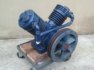 Vintage V-Twin air compressor barely used - in storage since 1970's