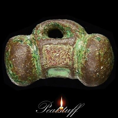 BRITISH IRON AGE / CELTIC. Enamelled Looped Toggle. Metal detecting find.  6 CA