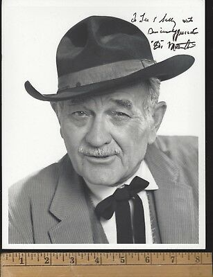 MILBURN STONE-SIGNED PHOTO-GUNSMOKE Doc;MAD GHOUL;INVISIBLE AGENT;SPIDER WOMAN