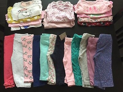 Joblot Huge Bundle Baby Girls Clothes, Leggings , T-shirts Etc Size 6-9 Months