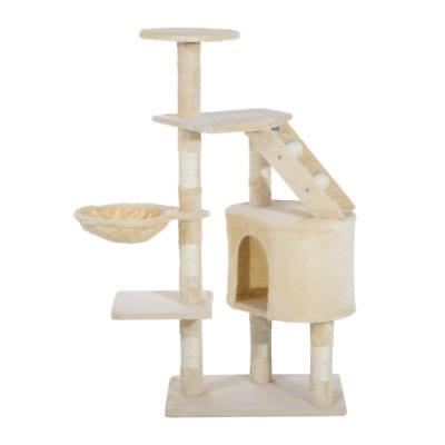 125Cm Scratching Cat Tree Kitten Bed Pawhut Deluxe Play Tower House Toy NEW