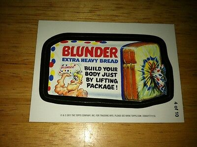 2011 Topps Wacky Packages Series 8 Ans8 Magnets Blunder Bread Prize Collectible