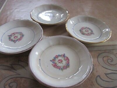 Vintage Set Of 4 Butter Pats Plates. No Marking In Excellent Condition