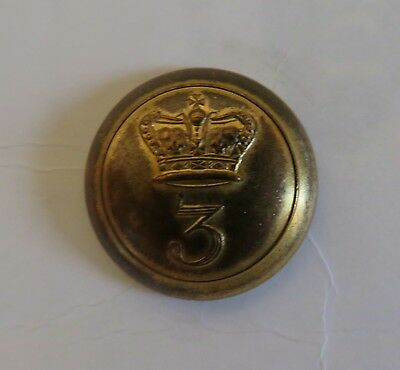 3rd or East Regiment Royal Jersey Militia Officer's Coatee Button.