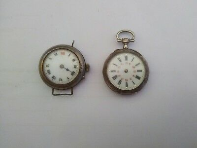 Joblot Antique Wristwatch  Untouched  Conversion Pocket Pendant &  Trench Watch