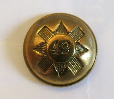 42nd Royal Highland (The Black Watch) Officer's Tunic Button.
