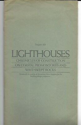1970s LIGHTHOUSES Chronicles Of Construction PLOT PLANS ELEVATIONS Eddystone + 5