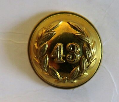 43rd Monmouthshire Light Infantry Officer's Tunic Button.