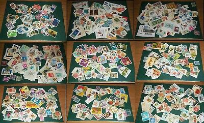 Stamps Loose Worldwide and GB (off and on paper) over 1000 stamps