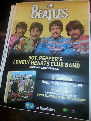 Promo poster BEATLES Sgt Pepper's Lonely Hearts Club dvd CD Lennon McCartney LP