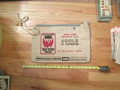 Minneapolis Moline Water Bag Tractor Imported Flax Cools by Evaporation MM