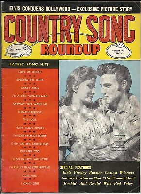 Feb 1957 ELVIS PRESSLEY COUNTRY SONG Roundup LOVE ME TENDER HANK SNOW RED FOLEY