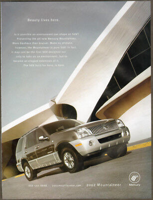 2002 Mercury ad gray Mountaineer SUV