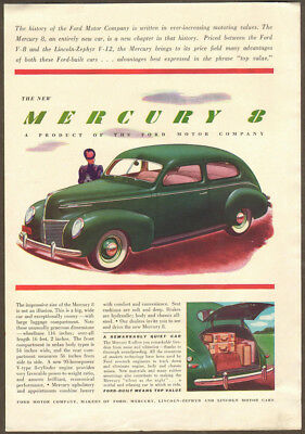 1939 Mercury ad green Mercury 8 2-door Sedan
