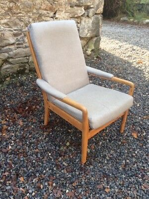 Vintage Retro Danish Style Armchair By Parker Knoll