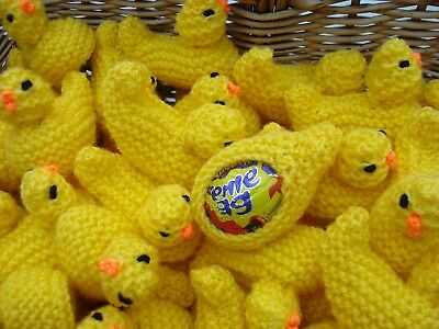 New 30 Hand Knitted Easter chicks creme egg covers