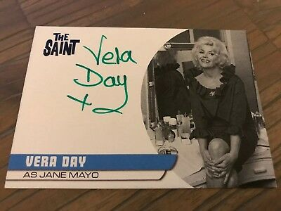The Saint Series 2 Vera Day As Jane Mayo VD3 Autograph Card Black Ink
