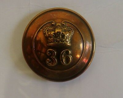 36th (Herefordshire) Regt Officer's Tunic Button.