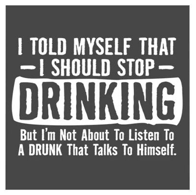 "3"" Sticker Drinking Funny Alcohol Talk To Self Crazy Advice Drunk Beer Wine"