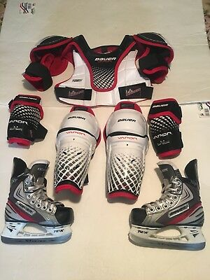 Bauer Hockey Youth Ice Skates Size 8 & Protective Size Small New
