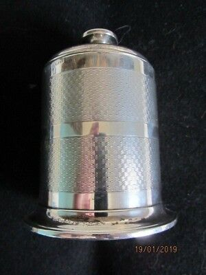 Solid silver Art Deco cigarette table circular box Birmingham 1933 216g overall