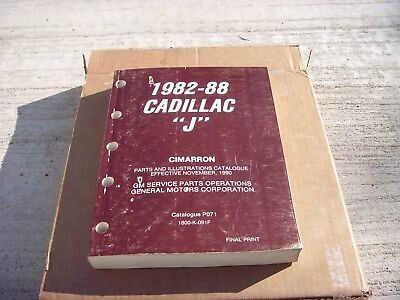 1982 1983 1984 1985 1986 1987 88 Cadillac Cimarron Parts Illustration Catalogue