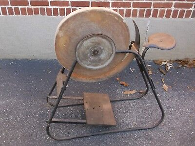 Antique Wet Wheel Stone Large Grinding Stone Farm Implement
