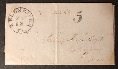 Vermont Wells River 1849 SFC w/content to Massachusetts