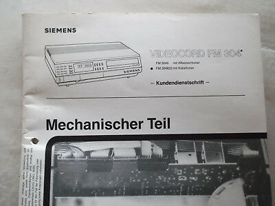 Siemens Video 2x4 FM 304 Video 2000, Serviceunterlagen, mechanischer Teil