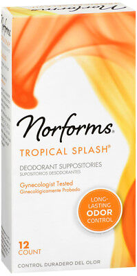 Norforms Tropical Splash Deodorant Suppositories 12