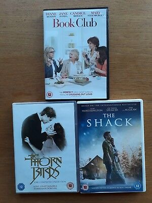 DVD: The Thornbirds Complete Collection (2010) + The Shack 2017 + Book Club 2018