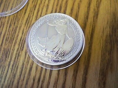 2002 Royal Mint Britannia £2 Two Pound 1 oz Fine Silver ( Proof like ) Coin  UNC