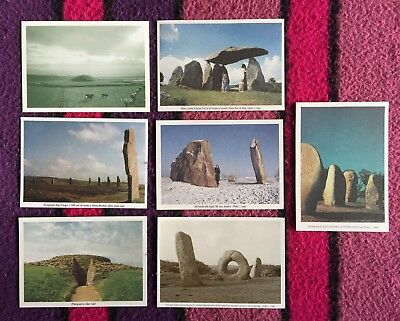 Julian Cope 1990s Set of 7 Megalithic Postcards