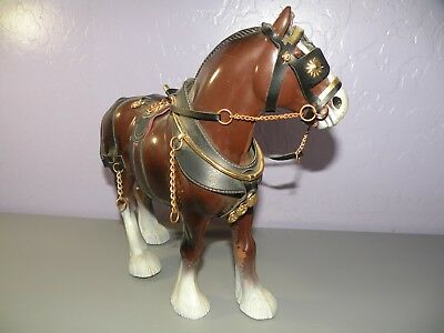Rare Vintage Plastic Horse Hong Kong Clydesdale with Saddle ++ 3168 1960's 70's