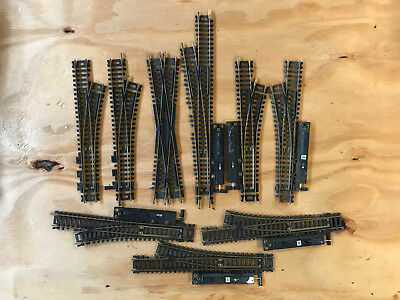 Lot of Atlas HO Brass Switches Used 9 Pieces Total