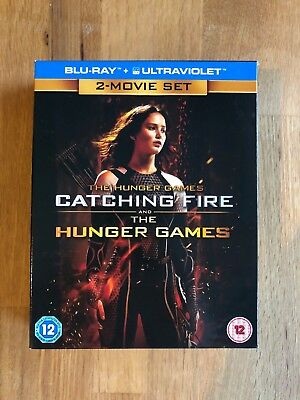 The Hunger Games and Catching Fire 2 Movie Set on Blu-Ray in Fantastic Condition