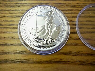 1998 Royal Mint Britannia £2 Two Pound 1 oz Fine Silver ( Proof like ) Coin  UNC