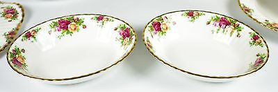 """(2) Royal Albert, Old Country Roses 9"""" Oval Serving Bowls"""