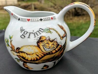 Alice in Wonderland Creamer by Paul Cardew Mad Hatters Tea Party Cheshire Cat 08
