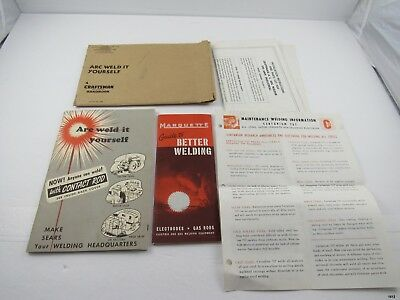 1950's Sears Roebuck ARC WELD IT YOURSELF Handbook Packet : Illustrated
