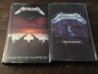 Metallica Master Of Puppets Ride The Lightning Cassettes OOP RARE