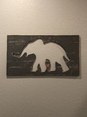 Wooden Elephant Art - Pottery Barn Kids (regular $60)