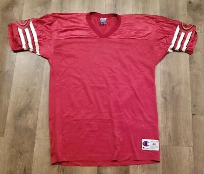 Vintage Champion San Francisco 49ers Blank Football Jersey Men s Size 48 XL  Rare 557375fe1